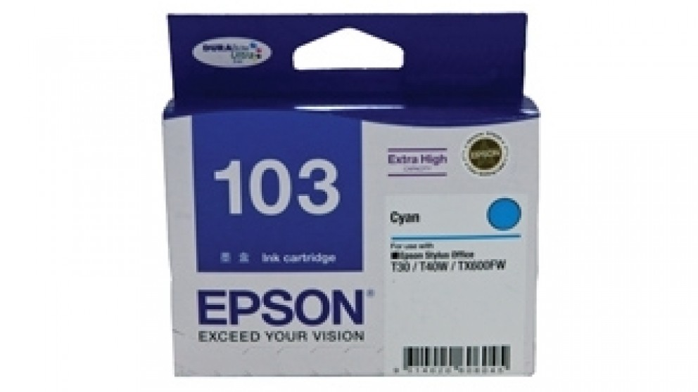 Epson 103 Extra High Capacity DURABrite Ultra Ink Catridge - Cyan
