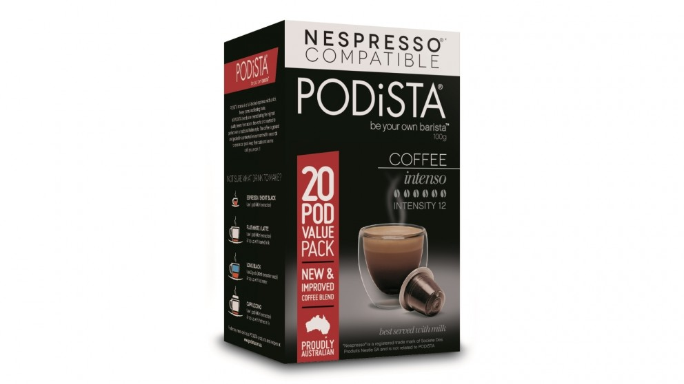 PODiSTA Intenso 12/10 Coffee Capsules - 20 Pack