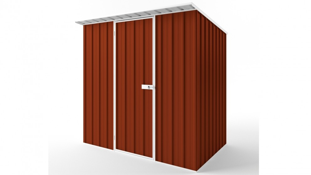 EasyShed S2315 Skillion Roof Garden Shed - Tuscan Red