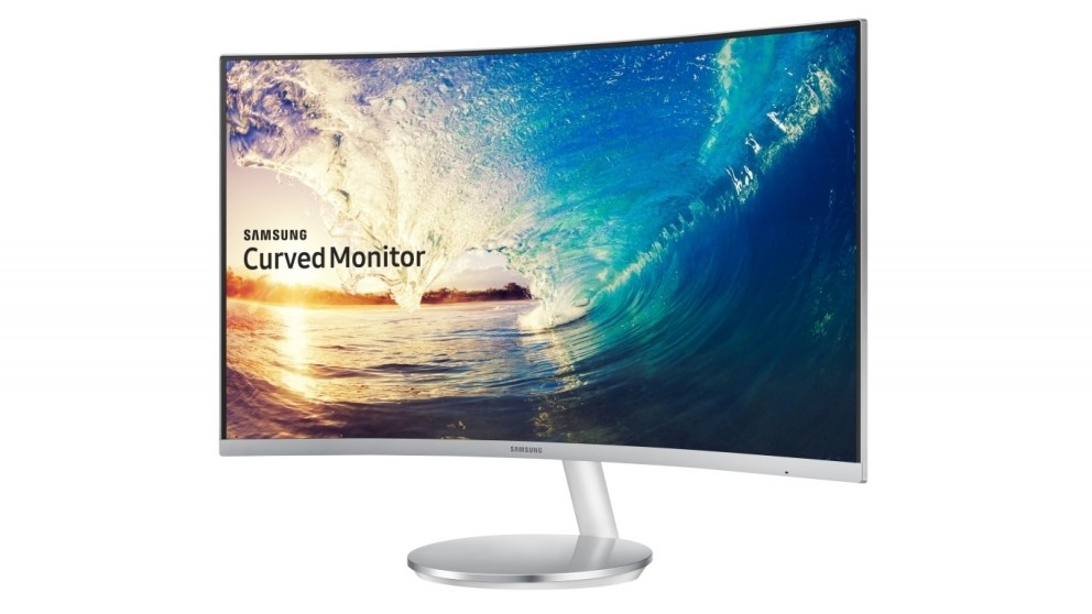 "Samsung 27"" Curved Monitor - White"