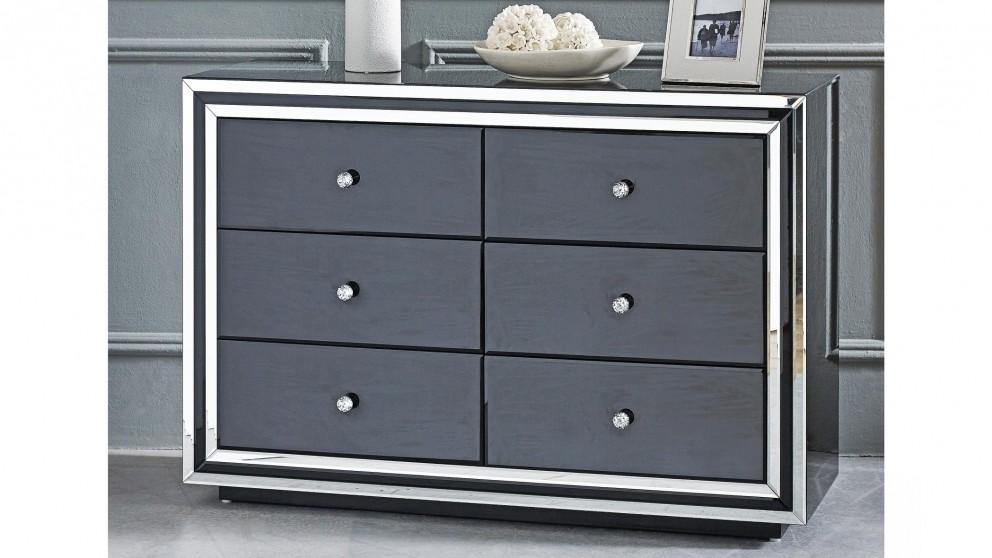 Peninsula 6-Drawer Dresser - Black