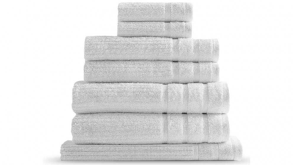 Royal Comfort Eden 8 Piece Towel Pack - White