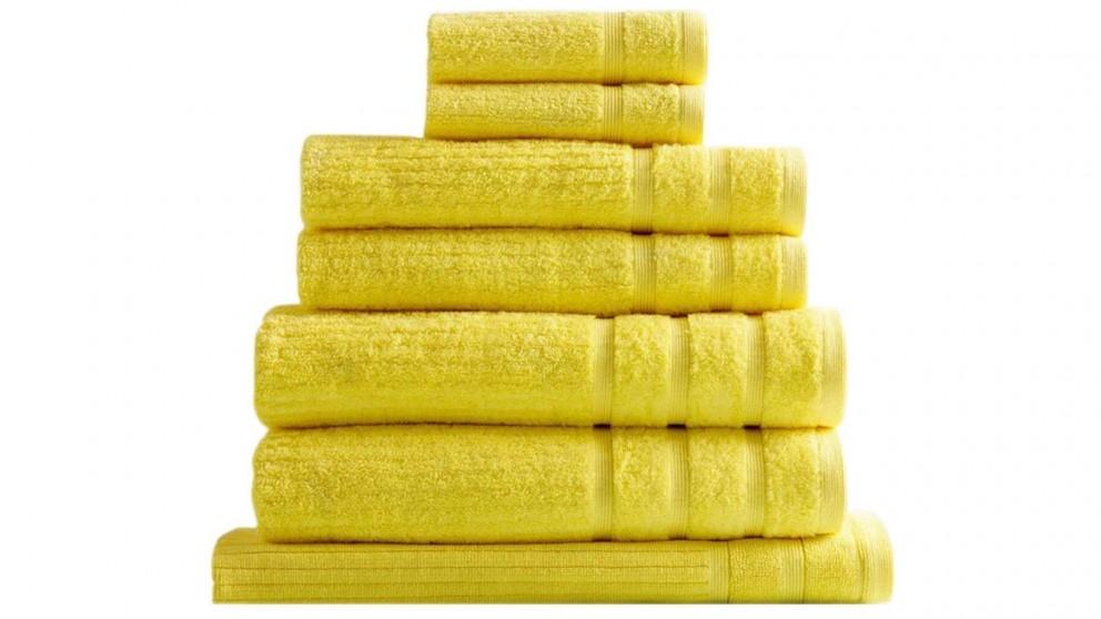 Royal Comfort Eden 8 Piece Towel Pack - Yellow