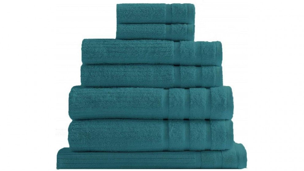 Royal Comfort Eden 8 Piece Towel Pack - Turquoise