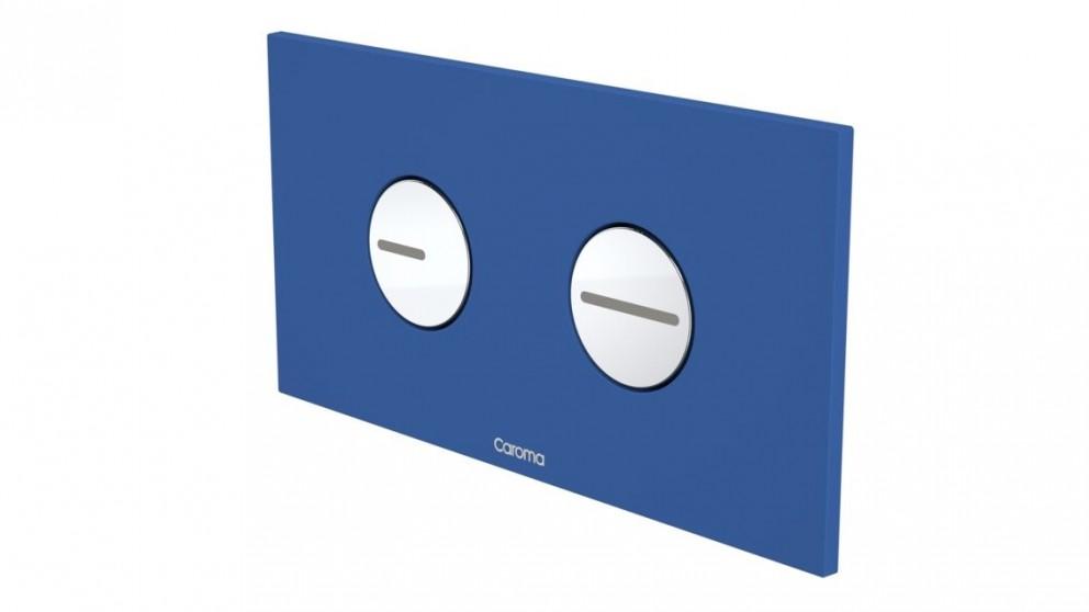 Caroma Invisi Round Dual Flush Plate - Bold Blue