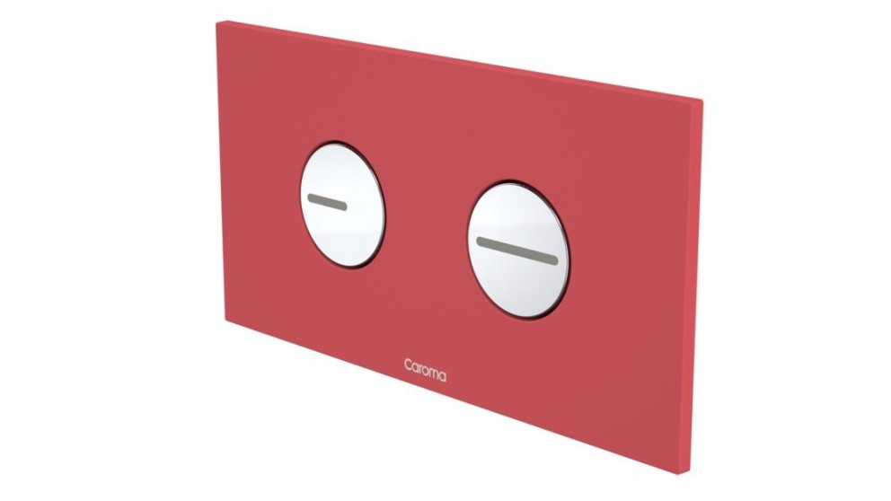 Caroma Invisi Round Dual Flush Plate - Cheeky Red