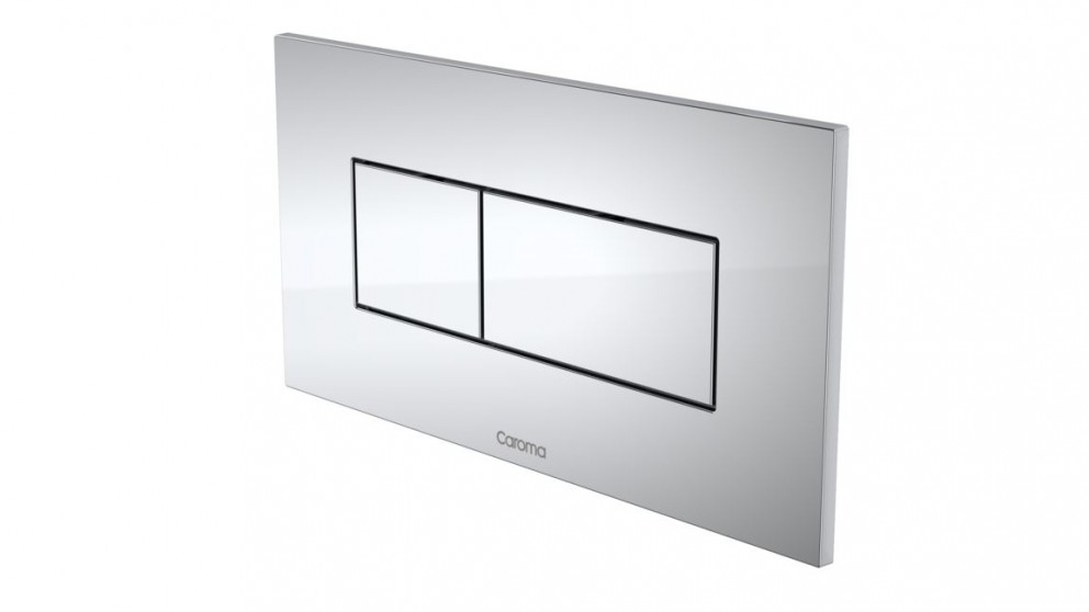 Caroma Invisi Rectangle Dual Flush Plate - Chrome