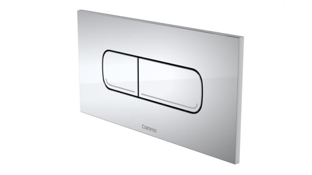 Caroma Invisi Oval Dual Flush Plate - Chrome