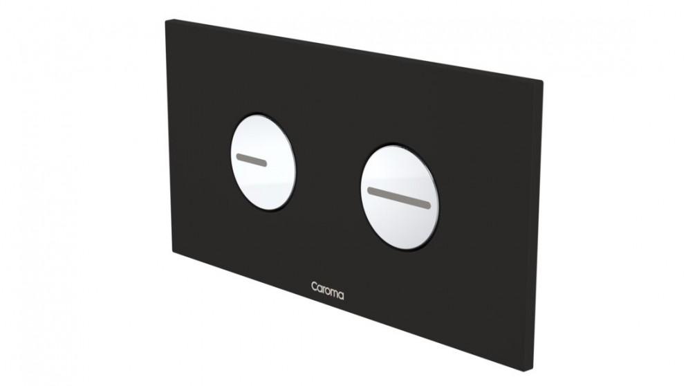 Caroma Invisi Round Dual Flush Plate - Metal Black