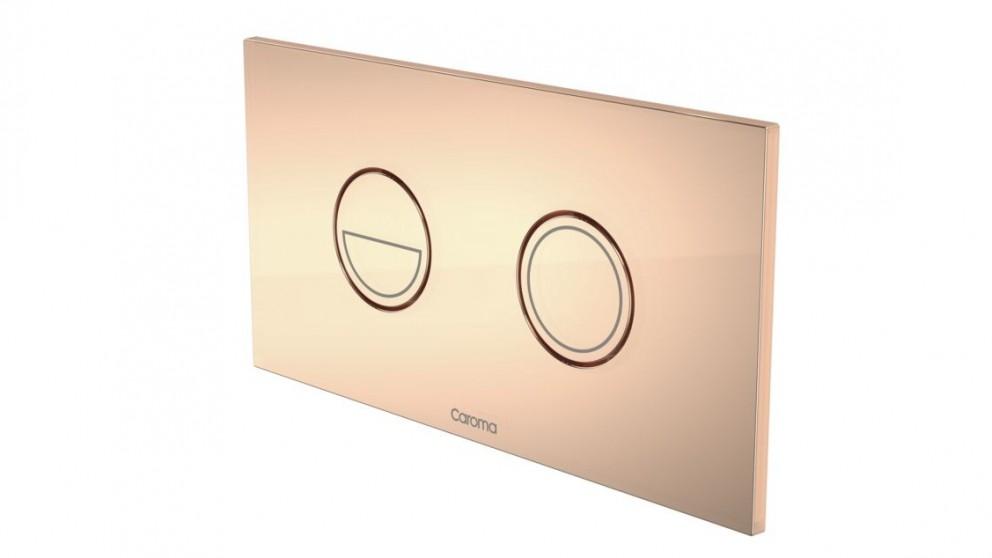 Caroma Invisi Round Dual Flush Plate - Metallic Copper