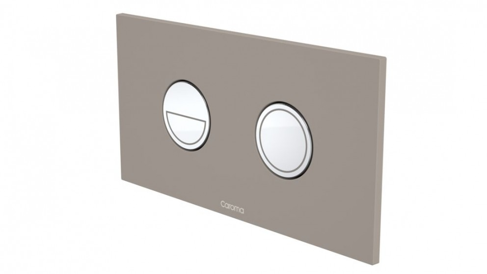 Caroma Invisi Round Dual Flush Plate - Mid Grey