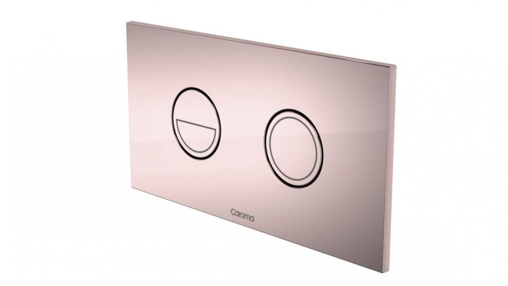 Caroma Invisi Round Dual Flush Plate - Rose Gold