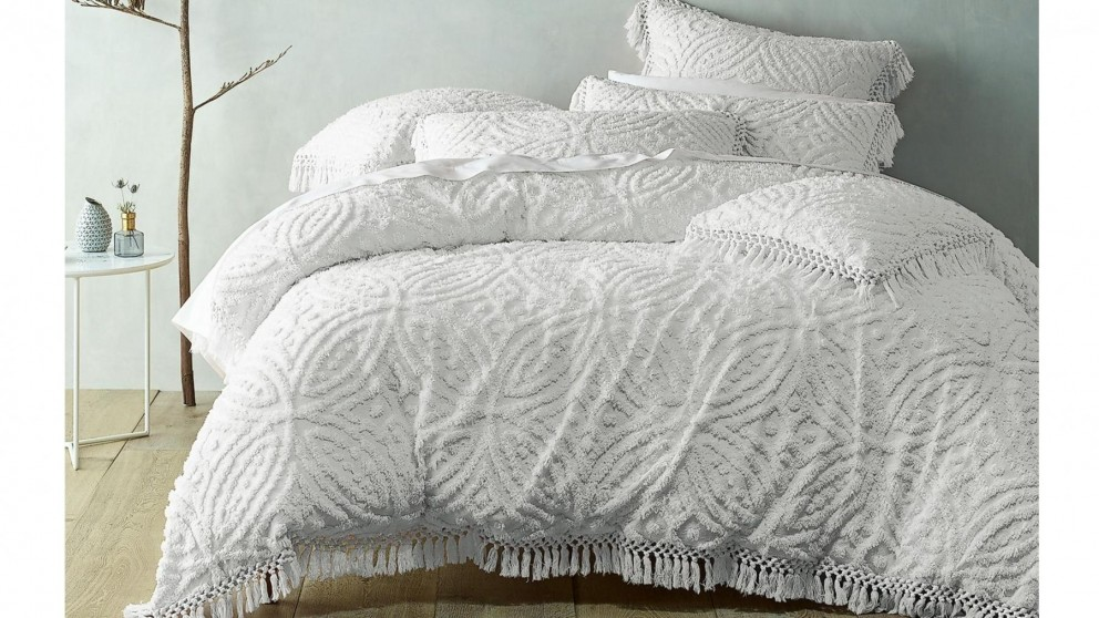 Savannah White Quilt Cover Set