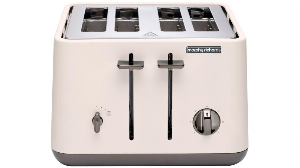Morphy Richards Aspect Chrome Trim 4 Slice Toaster - Nude