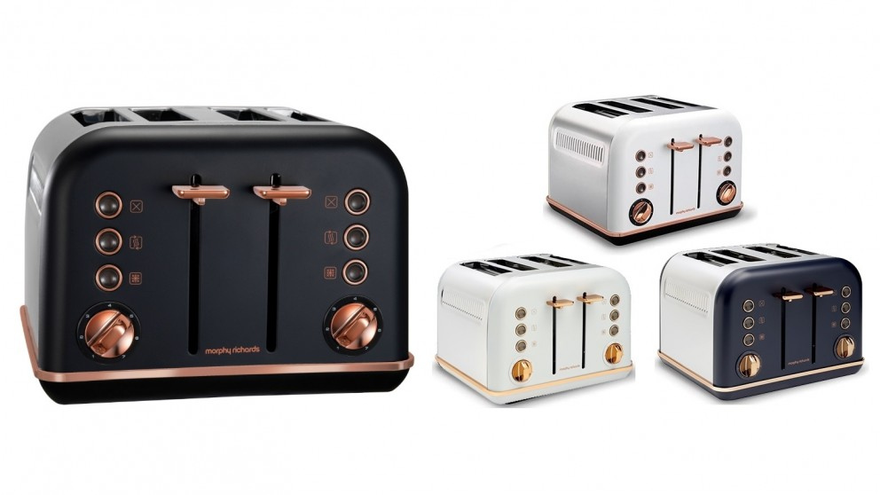Morphy Richards Accents Rose Gold 4 Slices Toaster