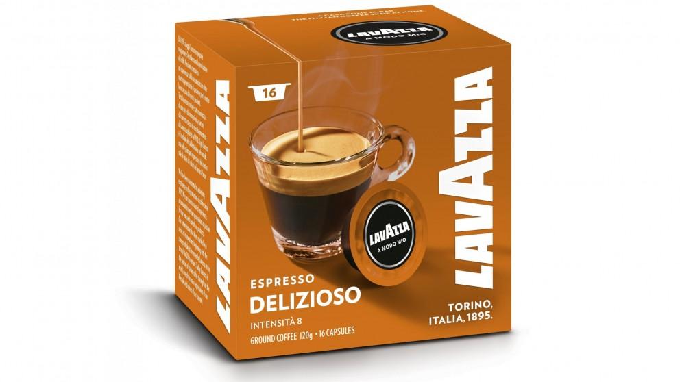 Lavazza A Modo Mio Delizioso Coffee Capsules - 16 Pack