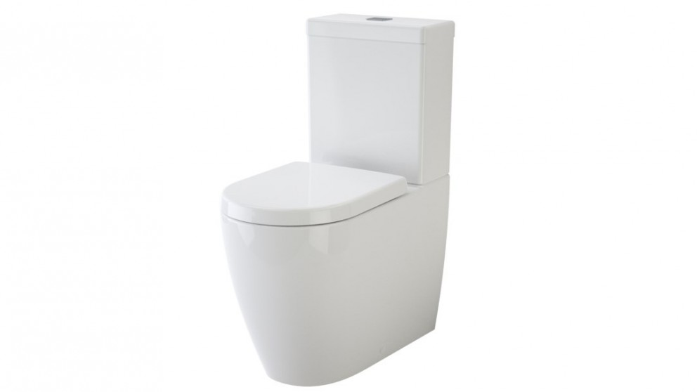 Caroma Urbane Cleanflush Bottom Inlet Wall-Faced Toilet Suite with Arc Soft Close Seat
