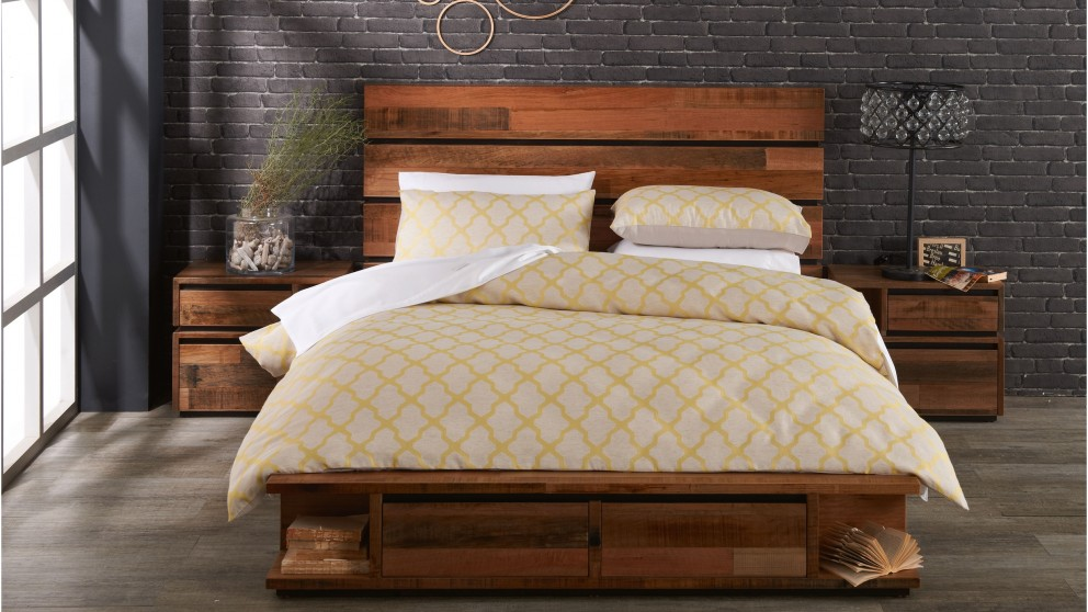 Lani Lime Quilt Cover Set - Queen