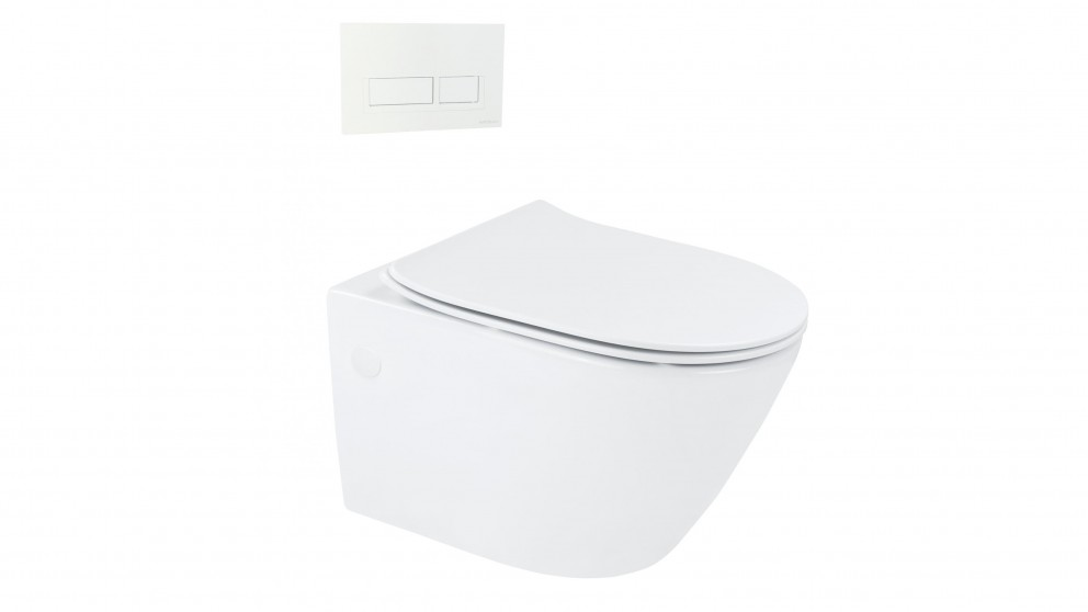 Arcisan Synergii Wall Hung Pan with In Wall Cistern and Xoni White Flush Panel