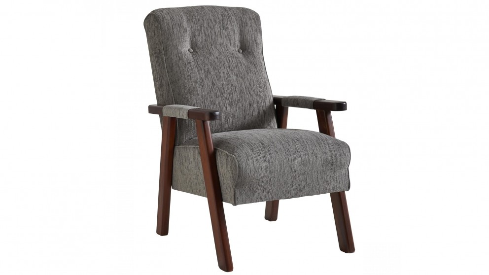 Victoria Bridge Fabric Armchair - Gunmetal