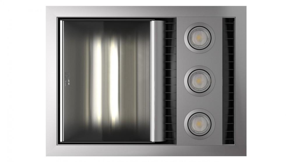 IXL Neo Tastic Single Bathroom Heat, Fan & Light - Silver