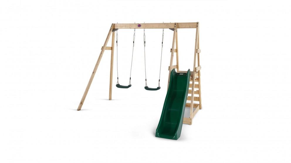 Plum Tamarin Wooden Swing Set