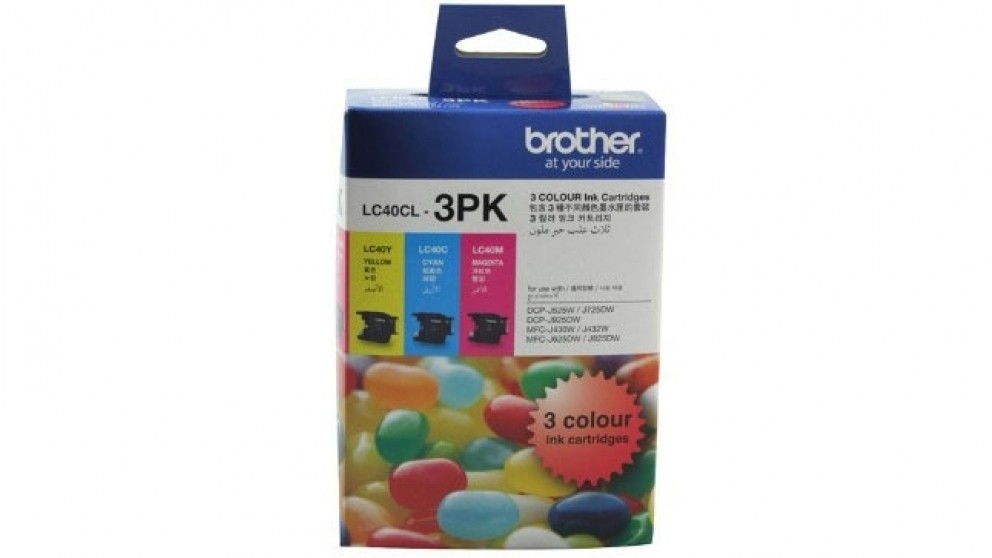 Brother LC-40CL3PK Colour Inkjet Value Pack