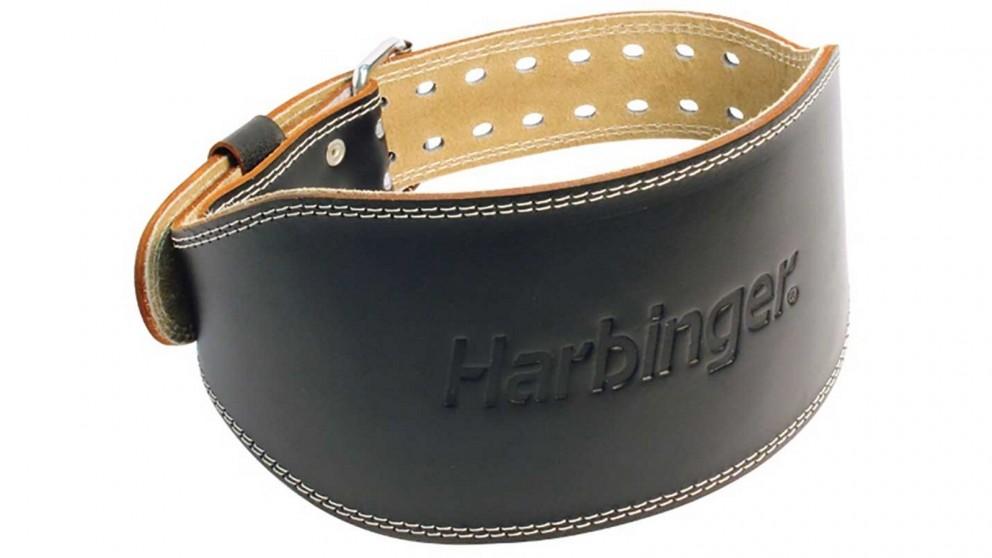 Harbinger 6-inch Padded Leather Black Belt - Large