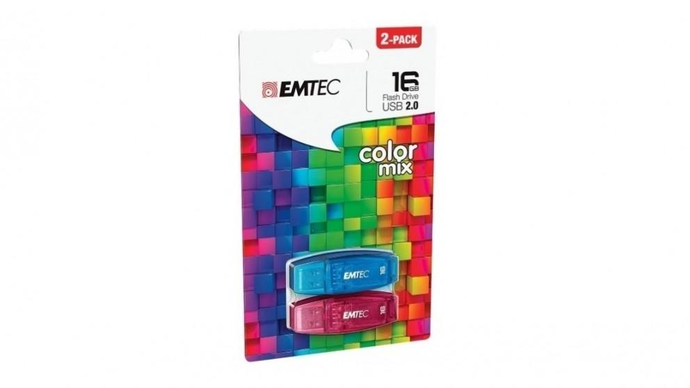 Emtec C410 Twin Pack 16GB USB 2.0 Flash Drive