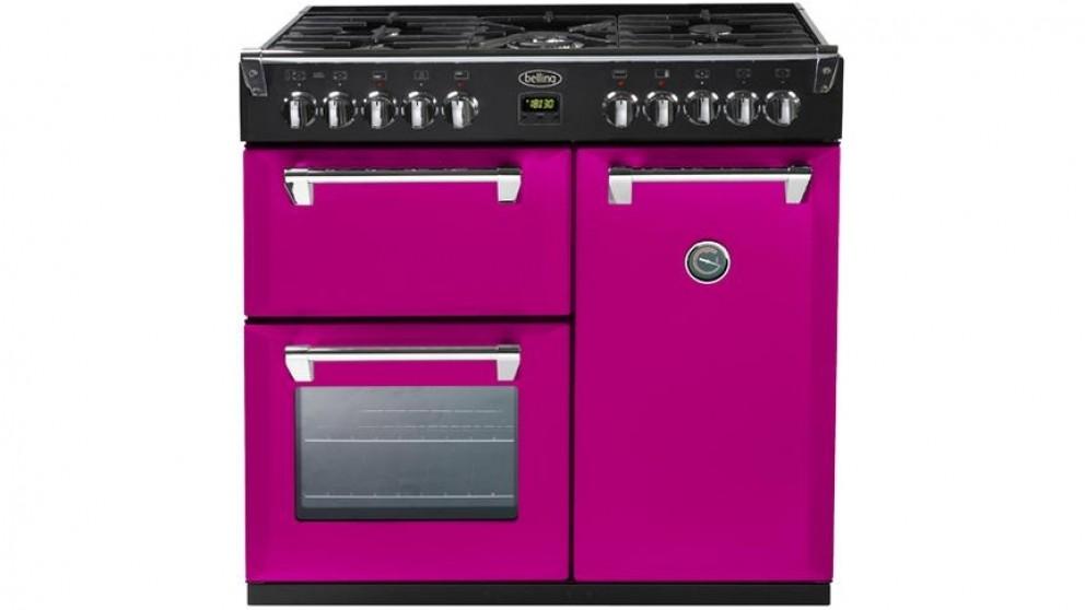 Belling 900mm Richmond Colour Boutique Dual Fuel Range Freestanding Oven - Floral Burst