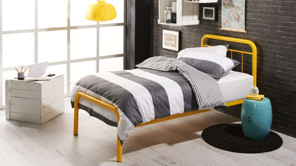calypso single bed yellow - Yellow Bed Frame