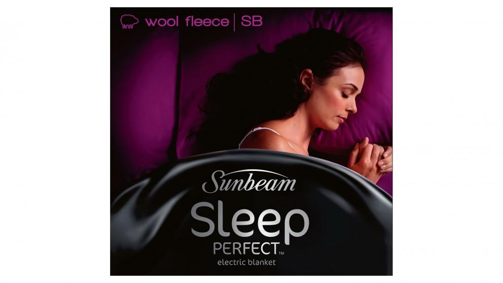 Sunbeam Sleep Perfect Wool Fleece Electric Blanket - King