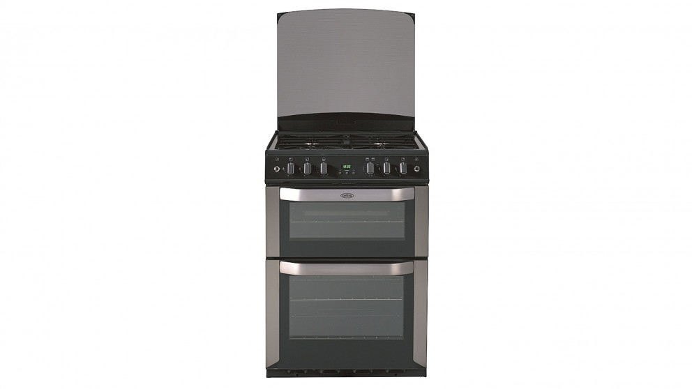 Belling 600mm Freestanding Fanned LPG Double Oven Cooker - Stainless Steel