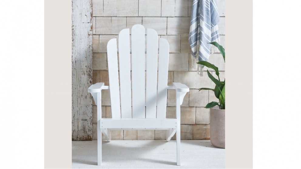 Milly Adirondack Outdoor Chair - White