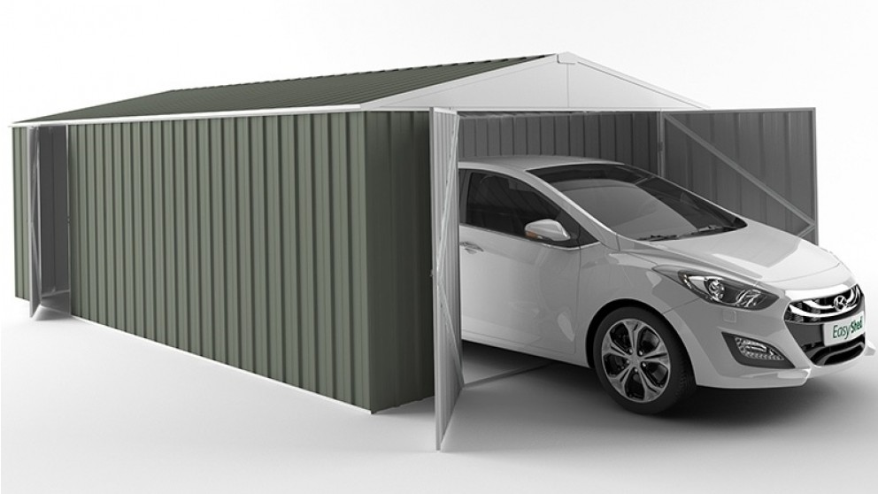 EasyShed 600cm Garage Shed - Mist Green