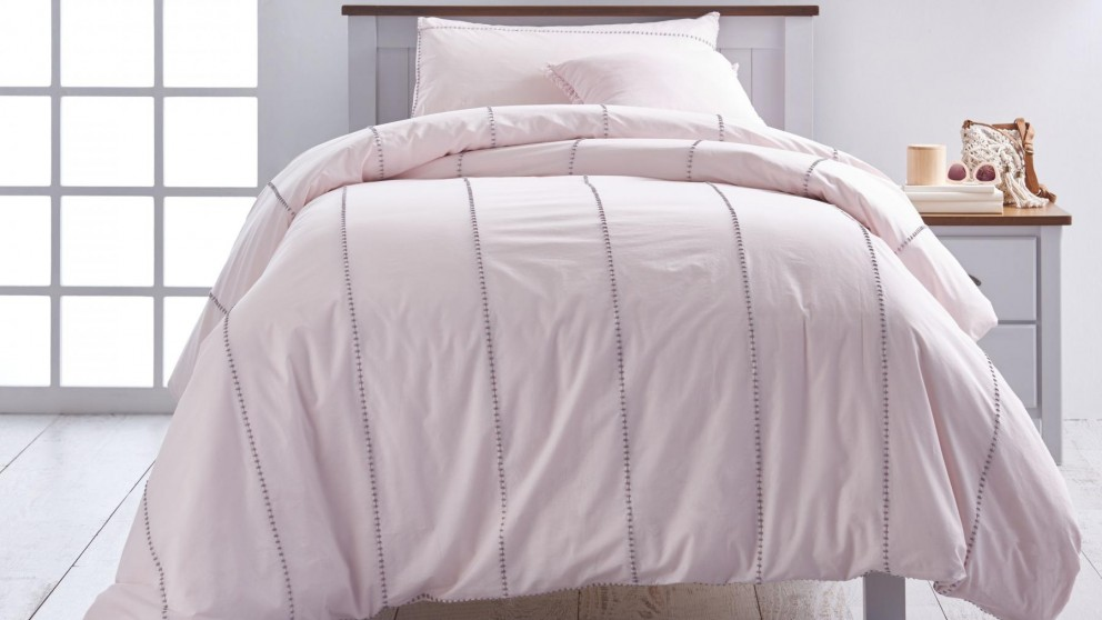 Jerome Pink Single Quilt Cover Set