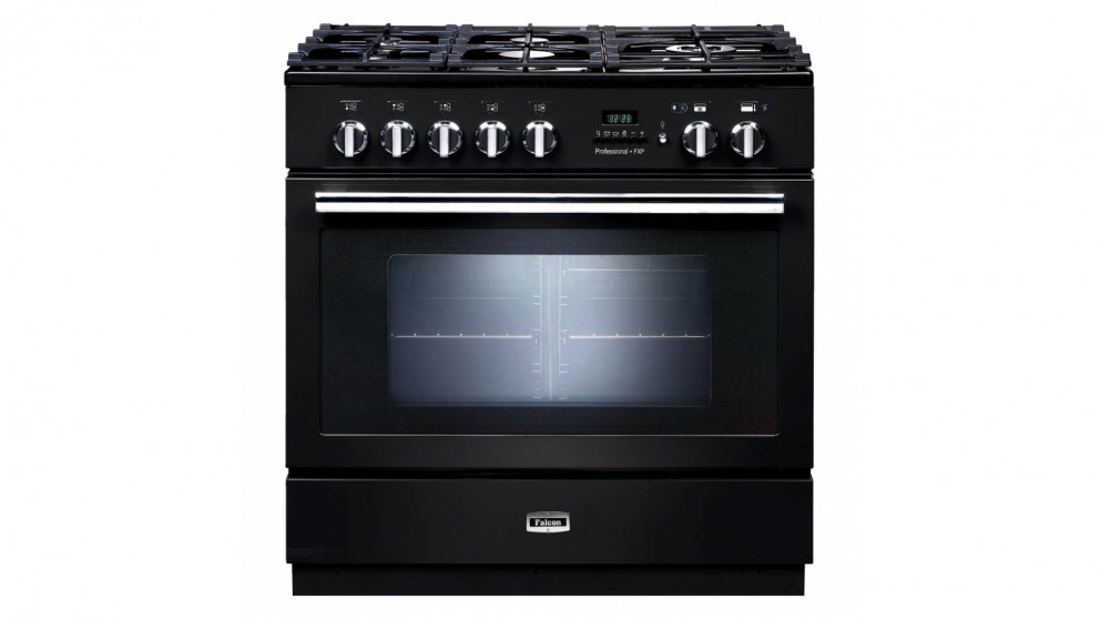 Falcon 90cm Pyrolytic Freestanding Cooker - Black