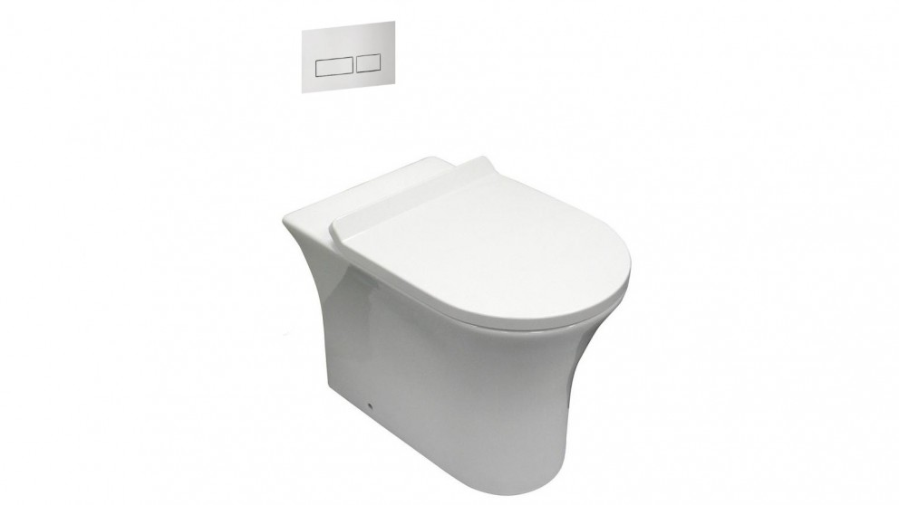 Parisi Play MK II Wall Faced Pan with In-Wall Cistern and Button Panel Set