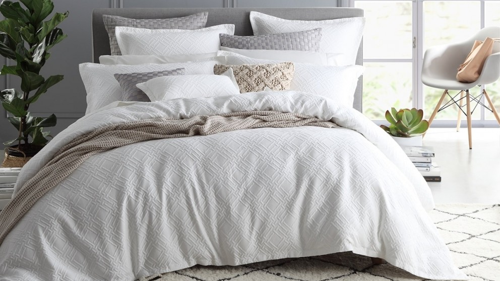 Fitzroy White King Quilt Cover Set