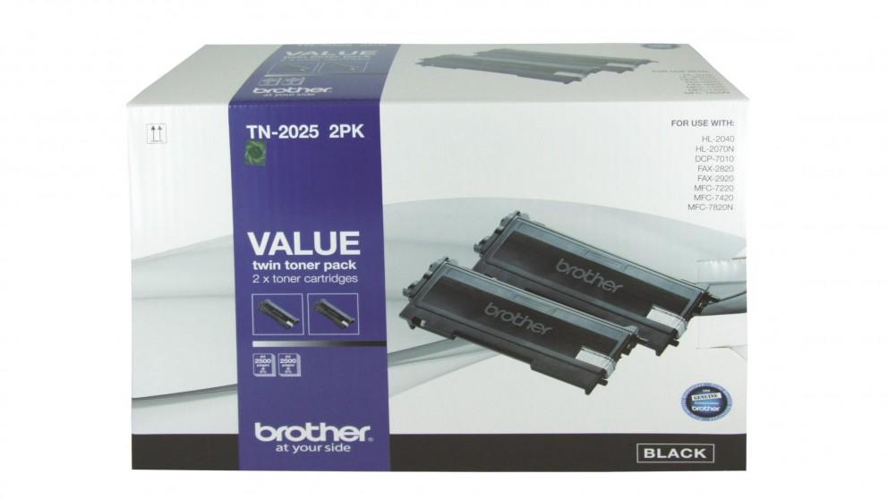 Brother TN-2025 Toner Cartridge 2 Pack- Black