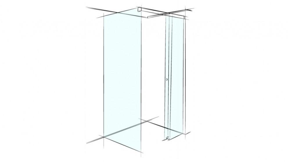 Verotti Xpace 1200mm Square Corner Set In Shower Screen - Clear
