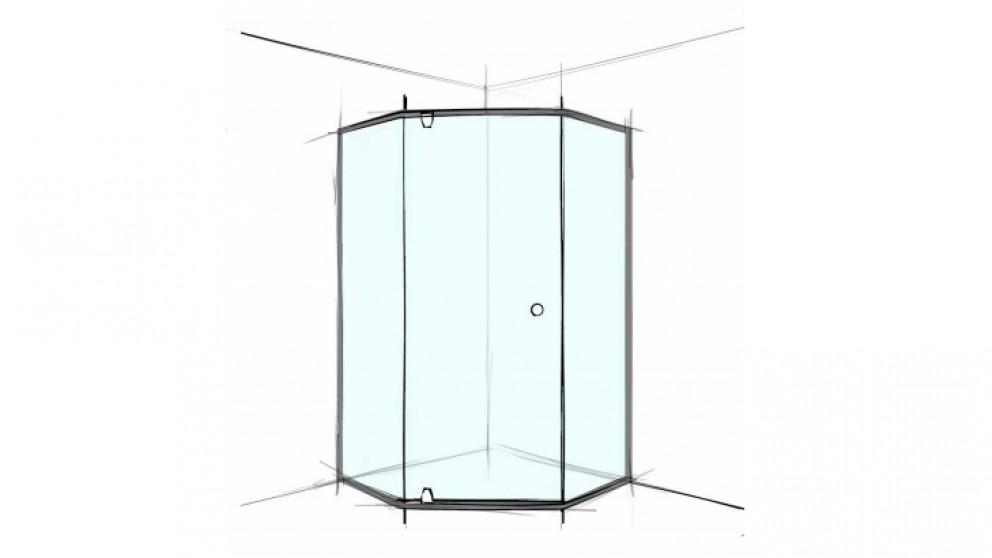 Verotti Custom S Played 1200m 3 Panels Semi Frameless Shower Screen