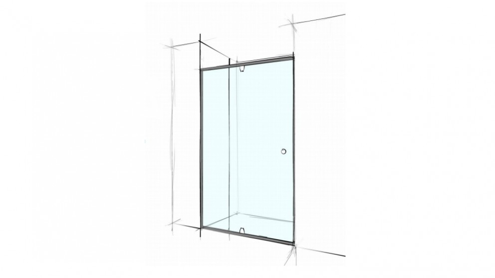 Verotti Custom 1400mm Semi Frameless Wall to Wall 3 Panels Shower Screen - Clear