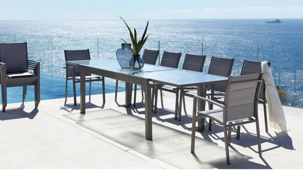 Laura 13 Piece Outdoor Rectangular Extension Dining Setting