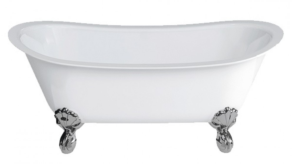 Gareth Ashton Batello 1690mm Stone Freestanding Bath with Black Claw Feet