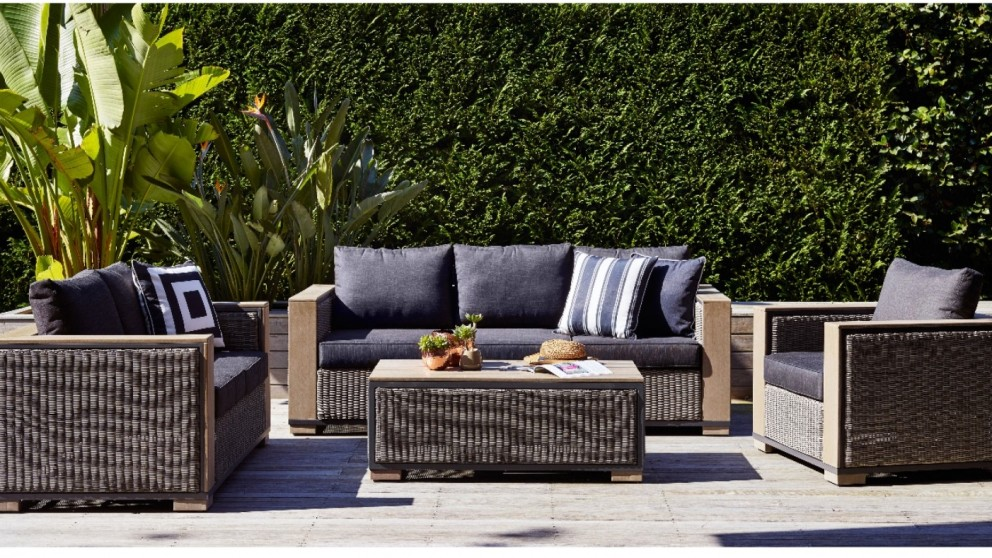 Superb Conrad 4 Piece Outdoor Lounge Setting Part 18