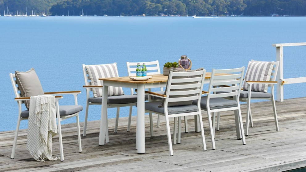 Concorde 7 Piece Outdoor Rectangular Dining Setting
