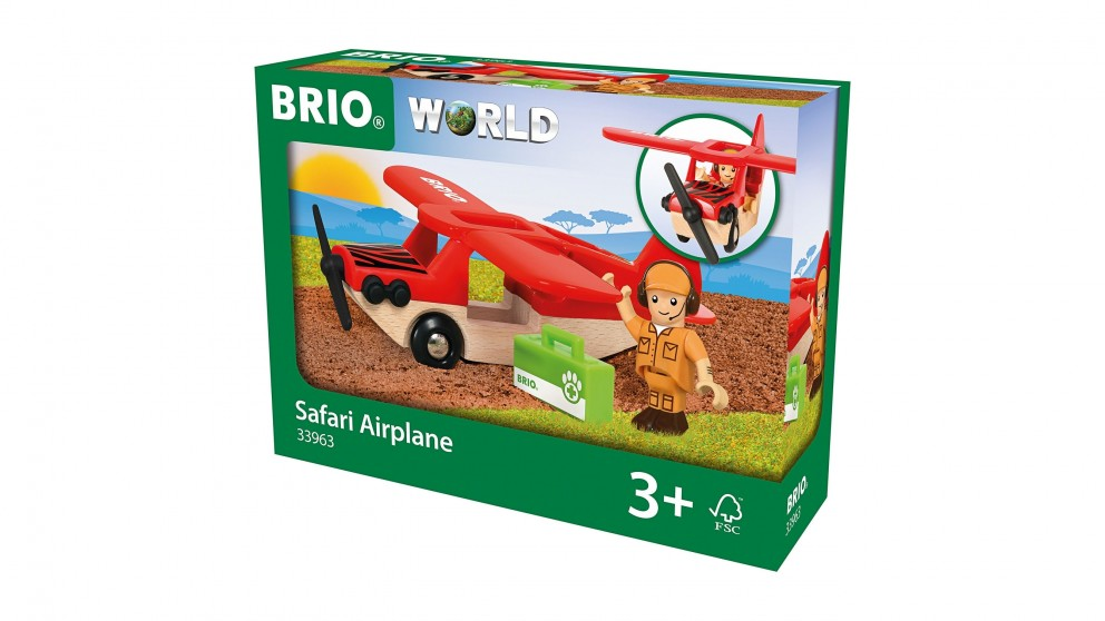 Brio Vehicle - Safari Airplane, 3 pieces