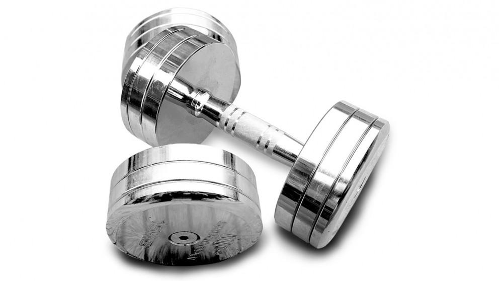 JMQ Fitness Solid Steel Dumbbells