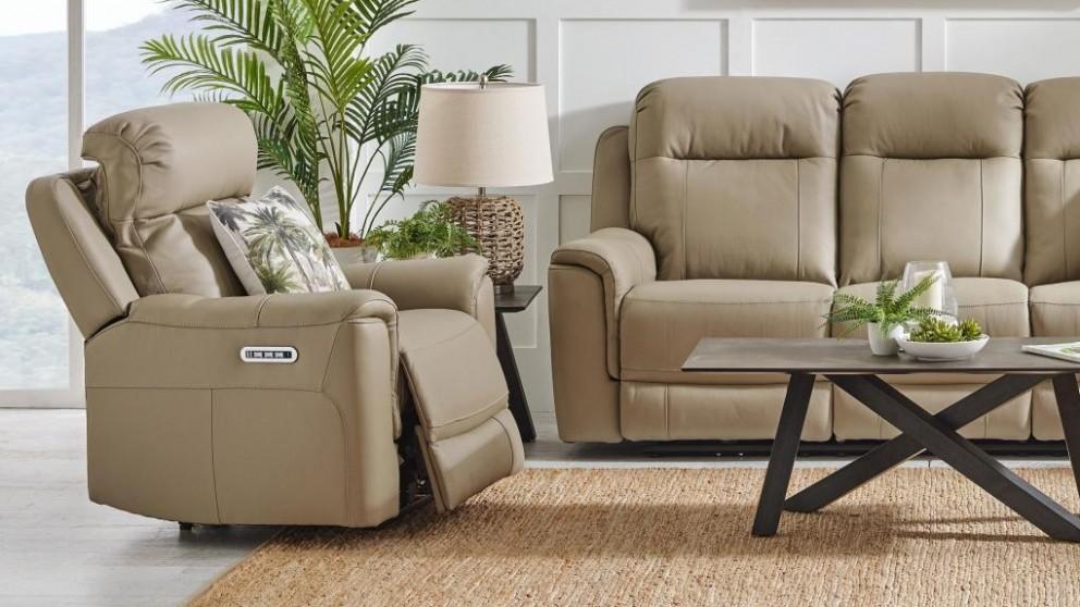 Blaxland Leather Powered Recliner Armchair